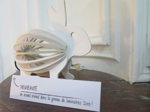 lampe lapin bois créations Gones - Marseille