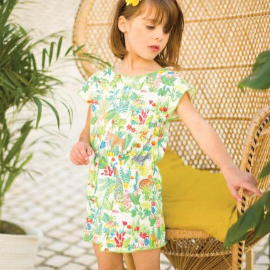 arsene-pipelettes-robe-fille-jungle-molleton-leger-taille-elastique
