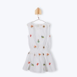 E17FR04-robe-fille-sans-manches-blanche-imprime-animaux-multicolore-arsene-pipelettes